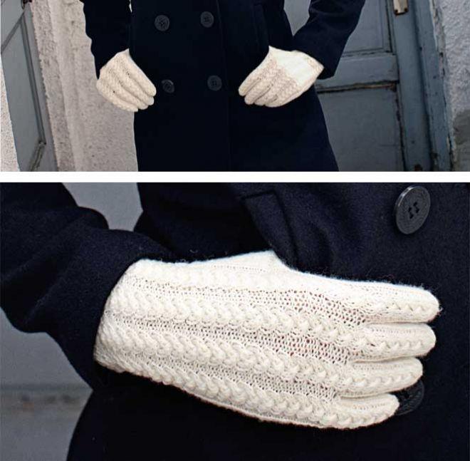 Перчатки с рельефным узором - схема вязания спицами. Вяжем Перчатки на Verena.ru