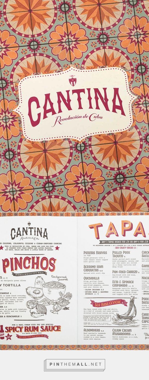 Revolución de Cuba Menu - Cuban Cantina Menu Designs - created via…