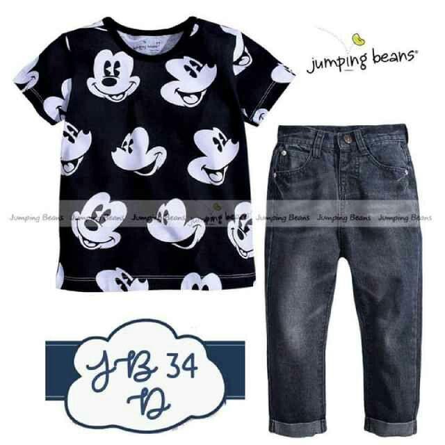 BC170 Setelan JB34D Mickey Size 2th 3th 4th 6th 7th Rp 135.000 (ready)