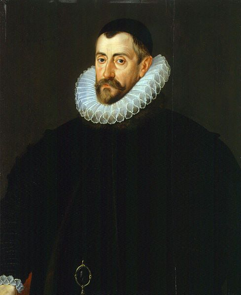 Sir Francis Walsingham, Queen Elizabeth's Secretary of State and Spymaster.  Painted by John De Critz the Elder.