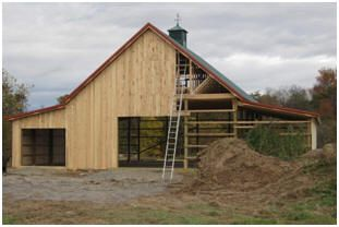 Barn plans order practical barn blueprints car barn for Barn shed with loft plans
