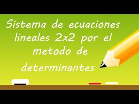 Sistema de ecuaciones lineales 2x2 por el Metodo de determinantes o regla de cramer   Profe Varona