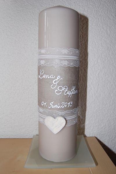 Hochzeitskerze,+vintage,+ländlich,+shabby+von+elinsArt+auf+DaWanda.com