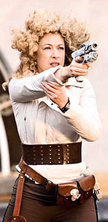 Women Of Doctor Who : Alex Kingston as River Song.