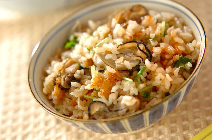 カキの炊き込みご飯のレシピ・作り方 - 簡単プロの料理レシピ   E・レシピ