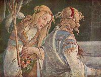 """Detalle,"""" Episodios de la vida de Moisés"""", Sandro Botticelli 1481-1482 (Capilla Sixtina, Vaticano)."""