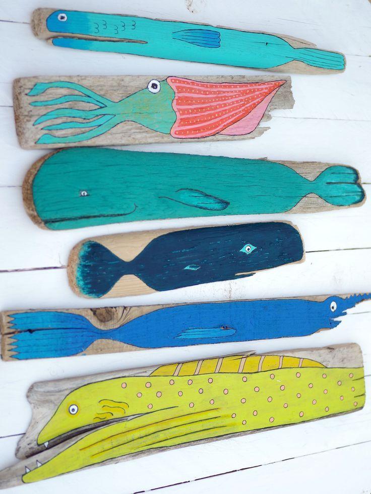 Sehr schöne Ideen zur Treibholzmalerei :) | Finistère | Bretagne | … #bretag…
