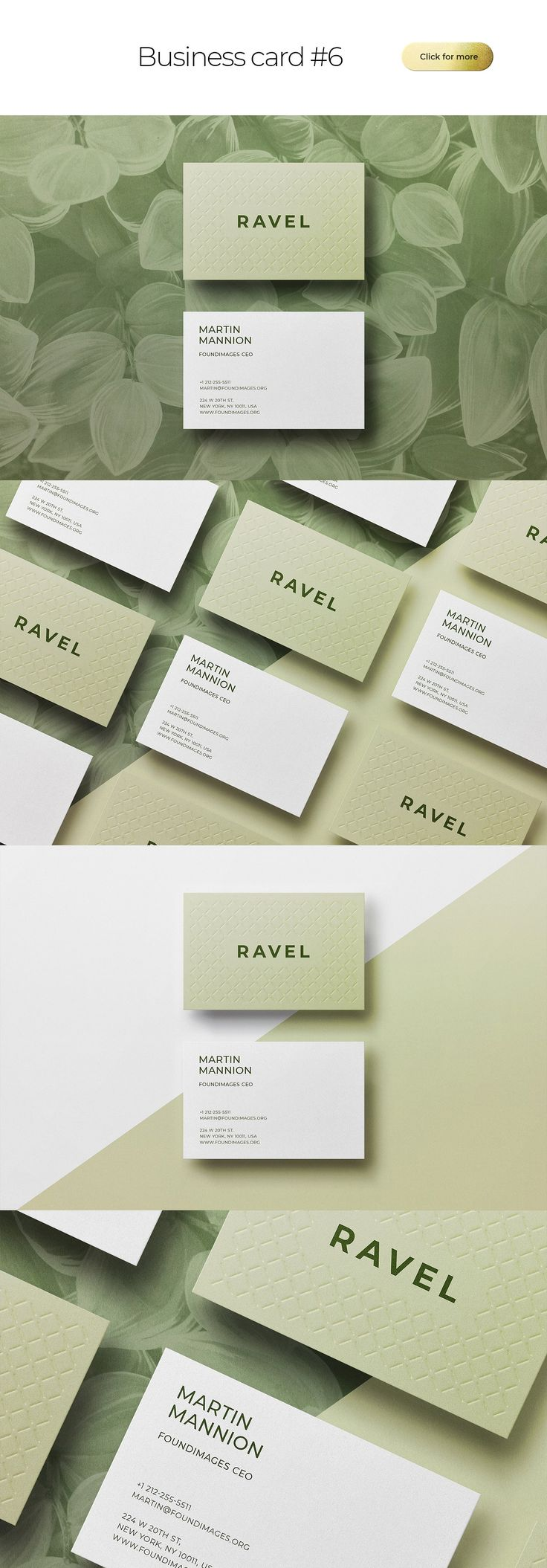 Business Card Bundle Template Mockup ~ Business Card Templates ~ Creative Market