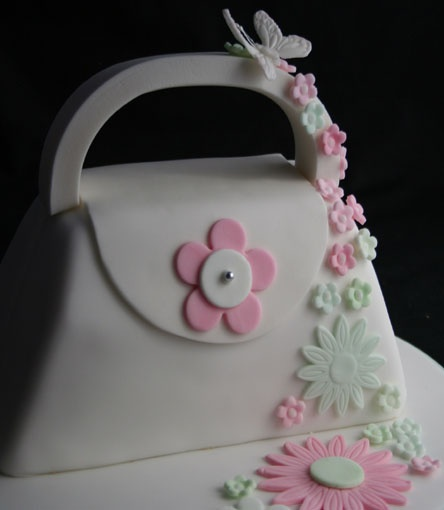 purse cake + flowers - Google Search