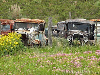 Vintage cars abandoned on the junkyard junker cars for Unclaimed motor vehicle ohio