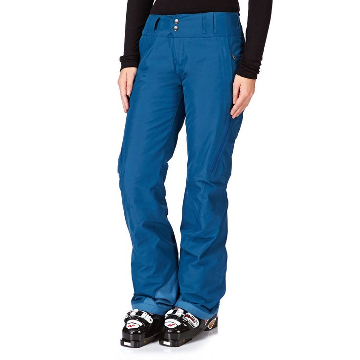 Patagonia Snow Pants - Patagonia Slim Insulated Powder Bowl Snow Pants - Underwater Blue
