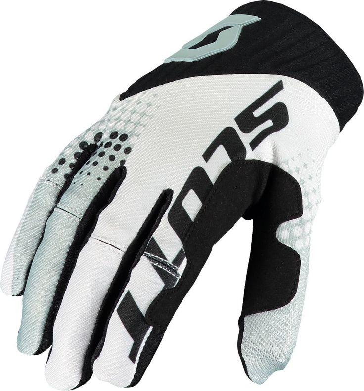 Scott 450 ANGLED / VENTILATED Gloves (BLK/WHT).