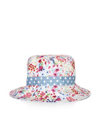 Garden Bloom Reversible Cotton Hat