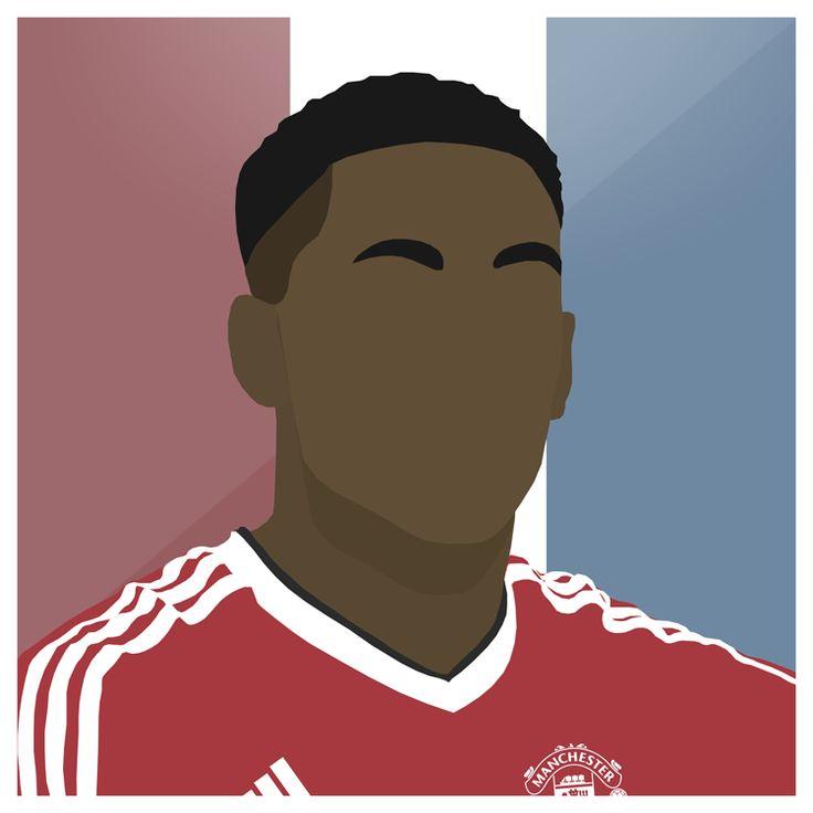 Martial   #ManUtd #MUFC #Martial #France #Premiership #LesBleus #Football #England #Sport #Design #Futbol #Illustrator #Photoshop #Vector