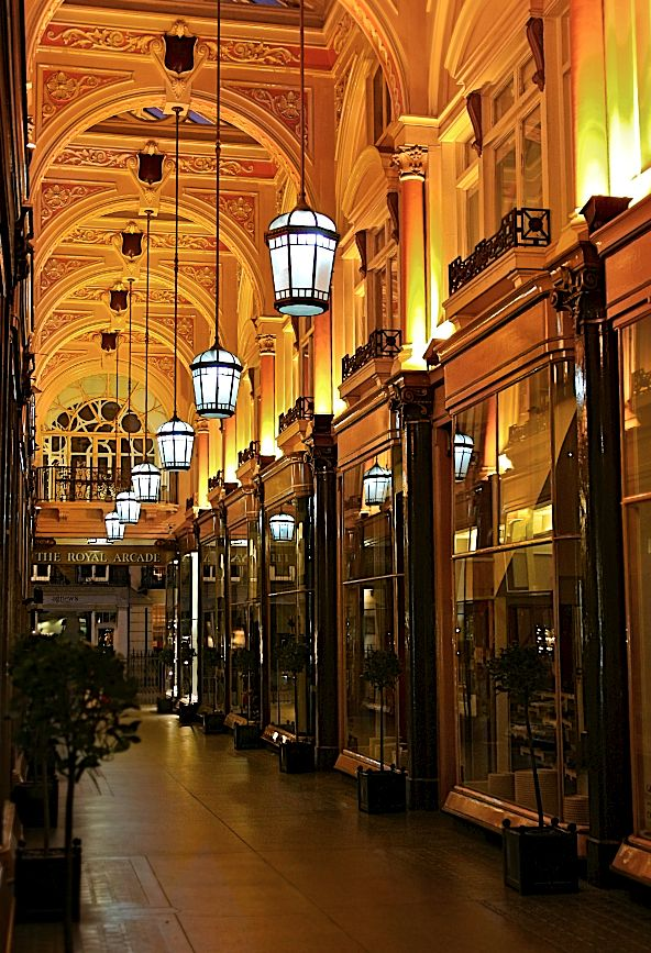 the Royal Arcade in Bond Street - London .. beautiful shops
