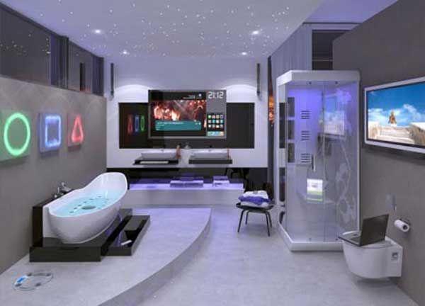 interior de una casa futuristica