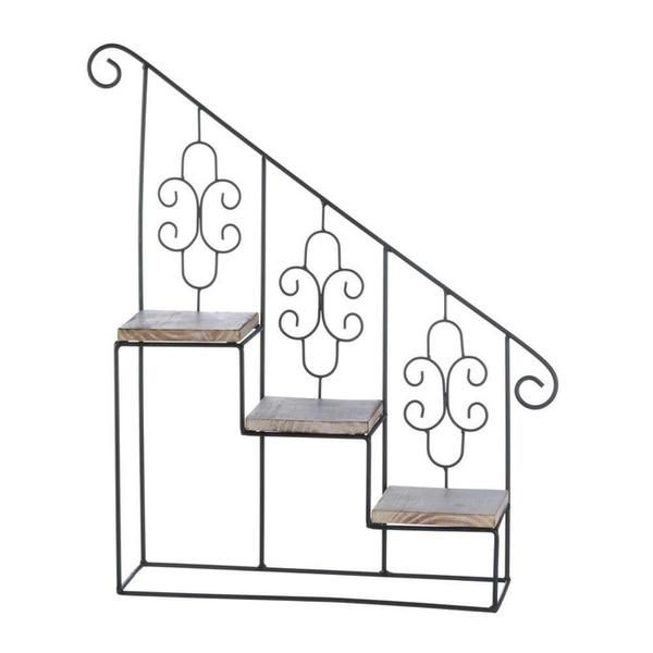 Black Stair Steps Wall Shelf Planter Stand Black Stairs Wall Display