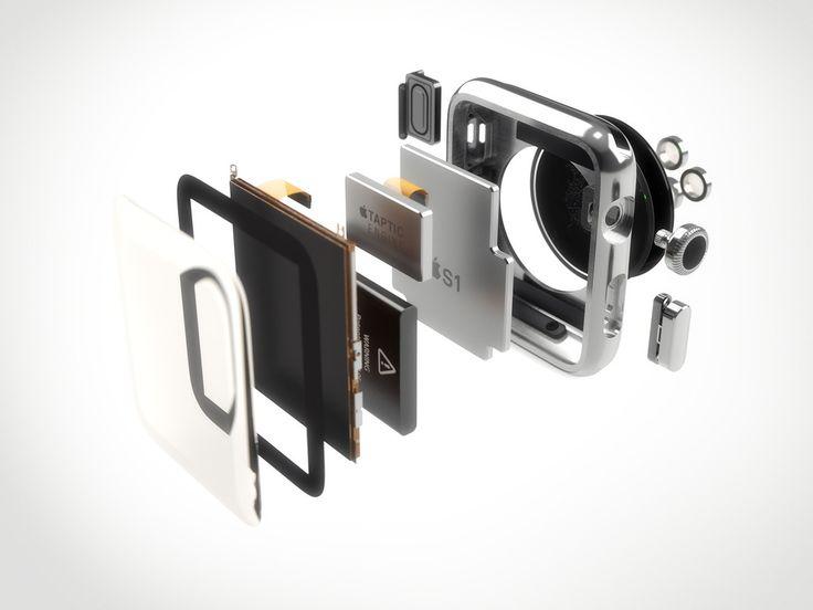 3d apple watch components model