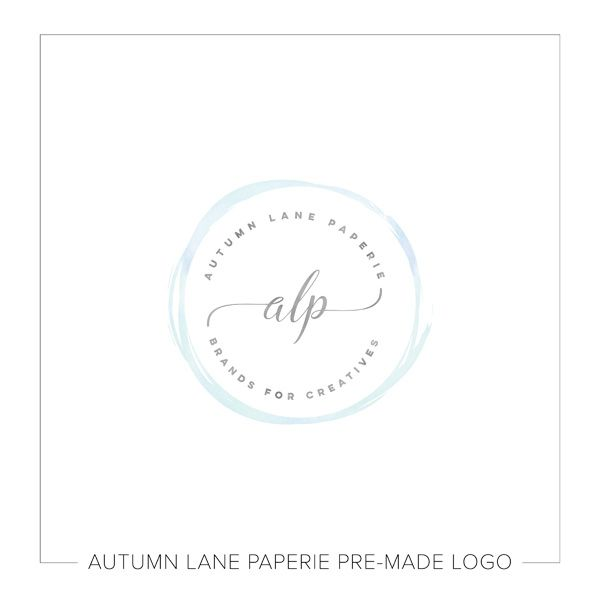 This listing is for a customizable blue watercolor circle logo. Put your company's name on it today!