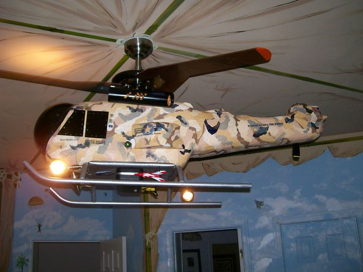 Ceiling fan camouflage helicopter the perfect fan light for the little boy 39 s room perfect - Little max ceiling fan ...