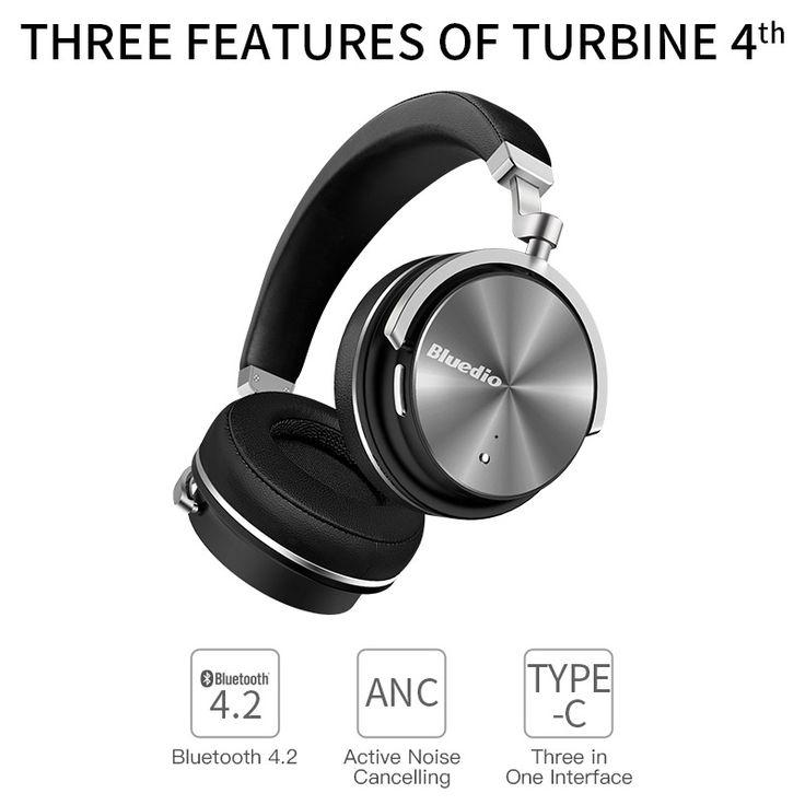 Bluedio T4 <b>Active Noise Cancelling Wireless</b> Bluetooth Headphones ...