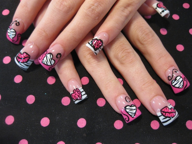 75 Best Nail Art Valentines Images On Pinterest Cute Nails