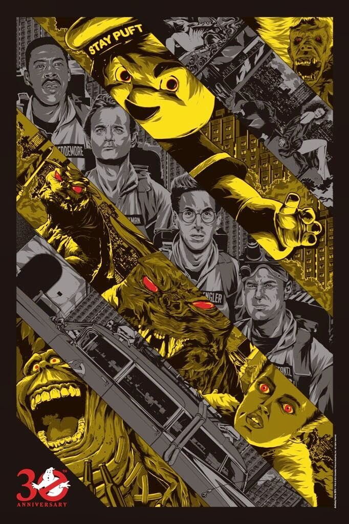 Ghostbusters - movie poster - Anthony Petrie