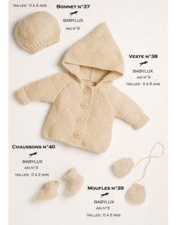 Modèle Chaussons CB15-40- Patron tricot gratuit                                                                                                                                                                                 Plus