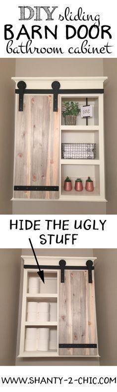 DIY Schiebetür Bad Kabinett