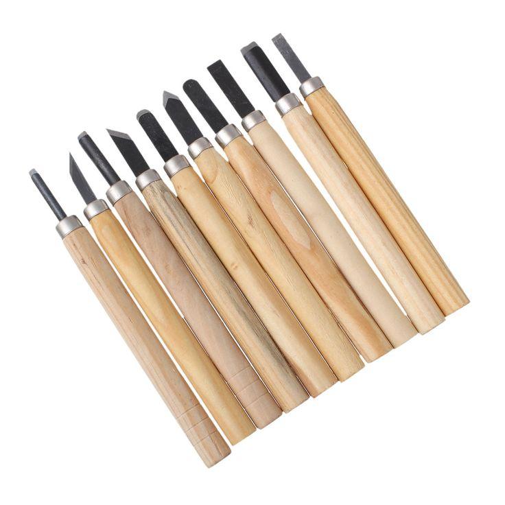 10-teiliges Schnitzwerkzeug-Set für Holz und Speckstein