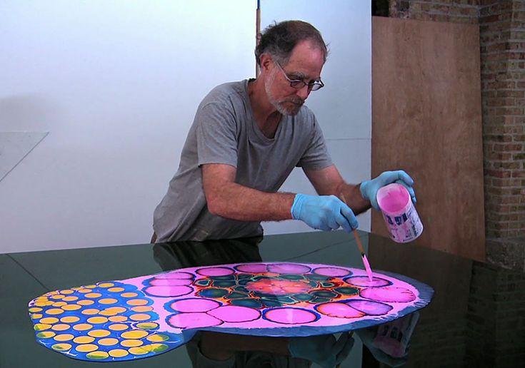 Les créations psychédéliques en peinture et résine de Bruce Riley   art psychedelique en peinture et resine par bruce riley 1