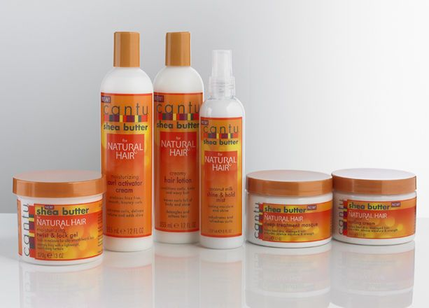 Cantu Shea Butter for Natural Hair  The Cantu Shea Butter for Natural Hair collection features high-quality formulas that nourish and protect hair from styling damage. The line contains the Twist & Lock Gel, Curl Activator Cream, Hair Lotion, Shine and Hold Mist, Deep Treatment Masque and Styling Cream which can be used on locs, twist-outs, cornrows and