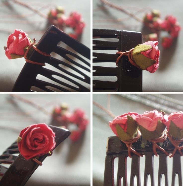 DIY - Flower hair comb