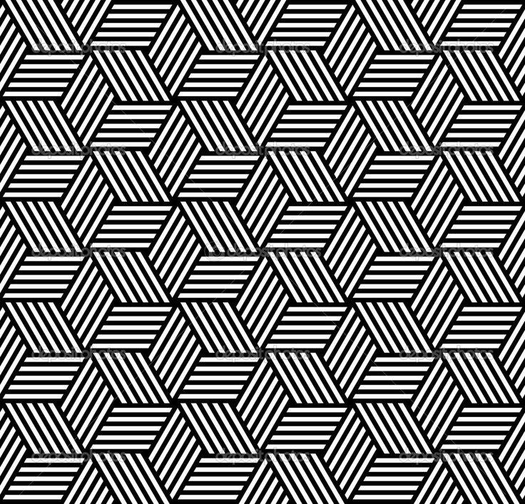 Naadloze geometrische patroon in op-art ontwerp. vector kunst