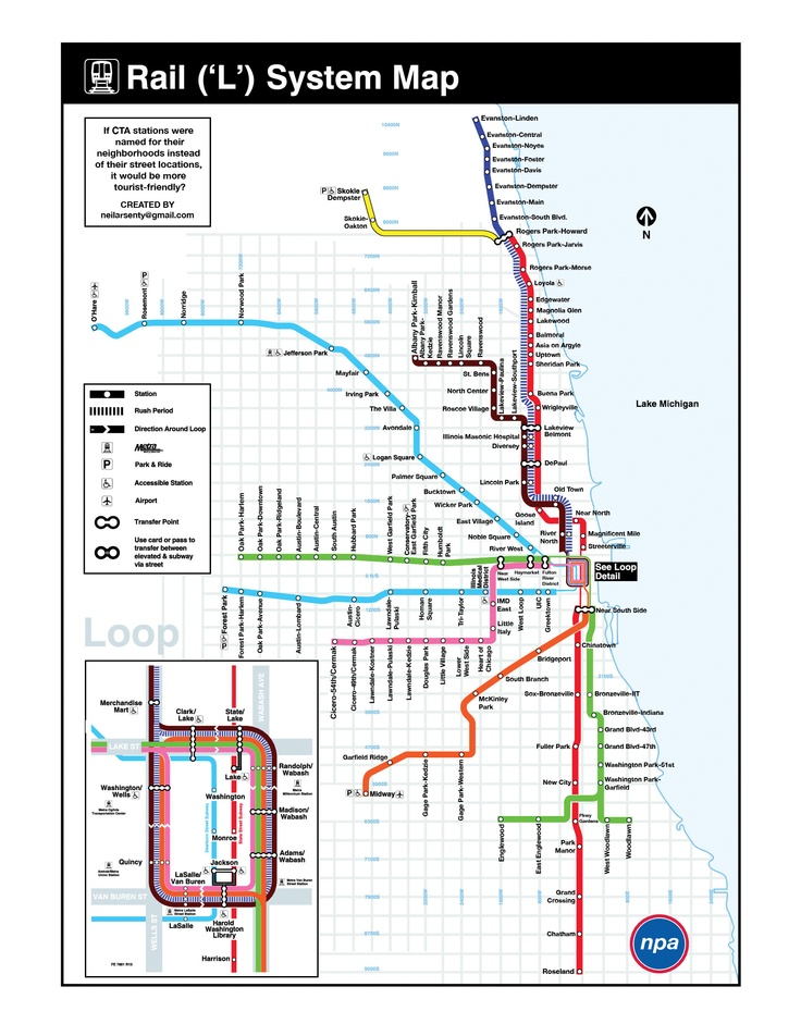 CTA map from alternate universe Map, System map, Chicago