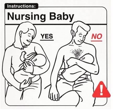 """From the book """"Safe Baby Handling Tips"""" - great laugh"""