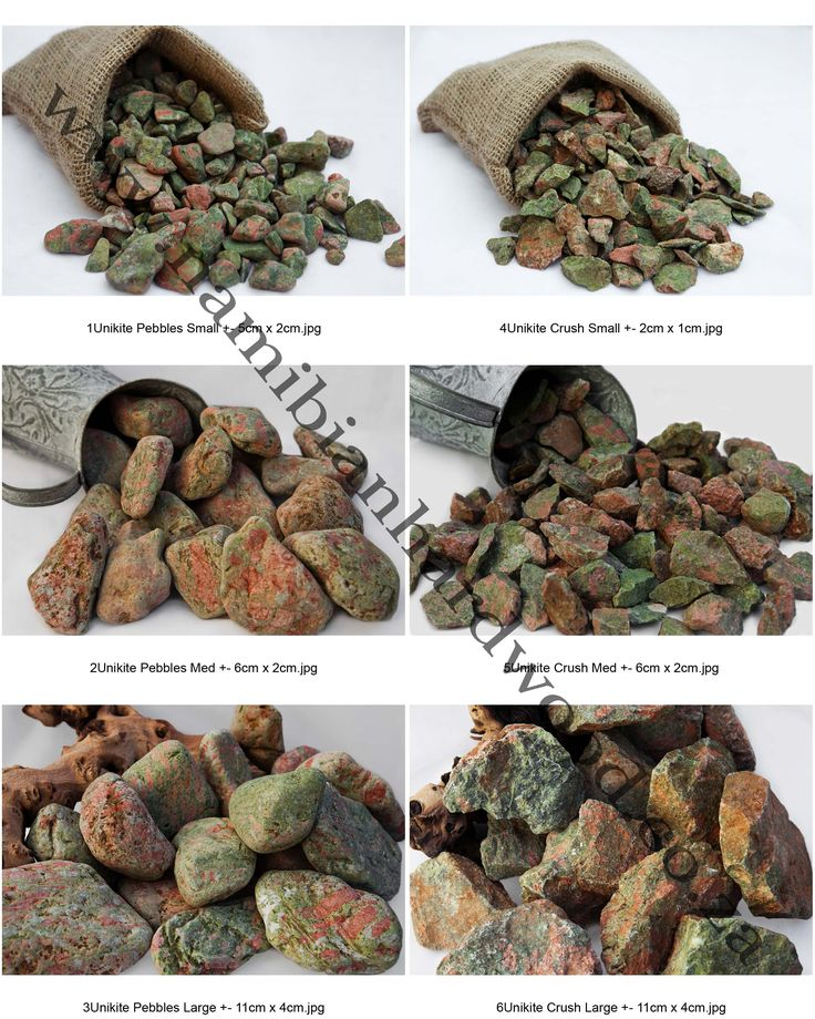 Unikite is a granite stone and good quality stones are considered semi-precious.  They are used predominately for jewellery and carvings.   It has unusual colouring and is popular amongst  landscapers and garden       designers as an attractive feature or to enhance a showpiece.