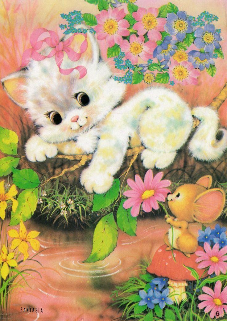 #Fantasia 6 #papeldecarta #kitten