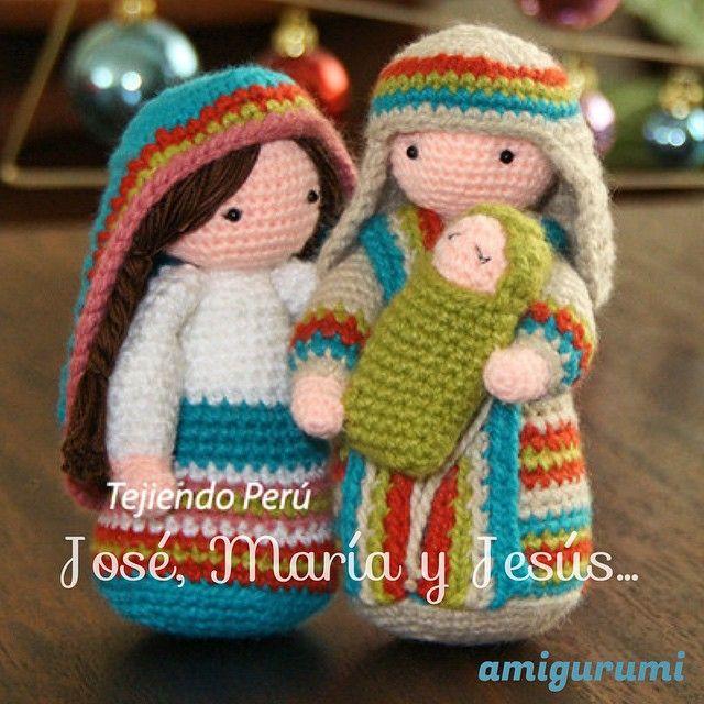 San José tejido a crochet (amigurumi)! Pueden ver el paso a paso en nuestra web: www.tejiendoperu.com. También encuentran el paso a paso para tejer a María con El Niño Jesús en brazos.