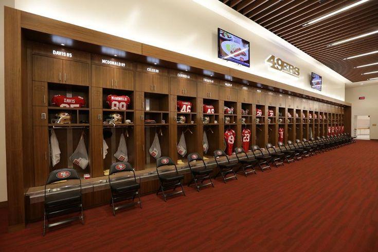 31 best locker room design images on pinterest cubbies for 49ers room decor