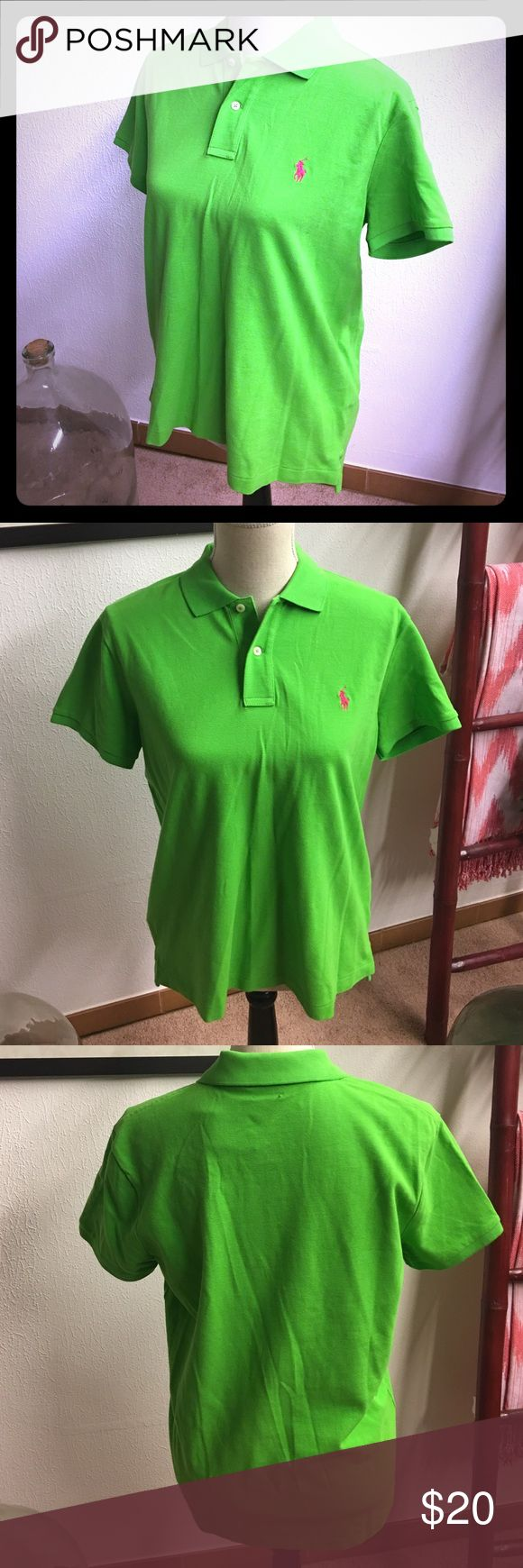 RL Lime green Polo Shirt NWT size L, classic fit Polo by Ralph Lauren Tops