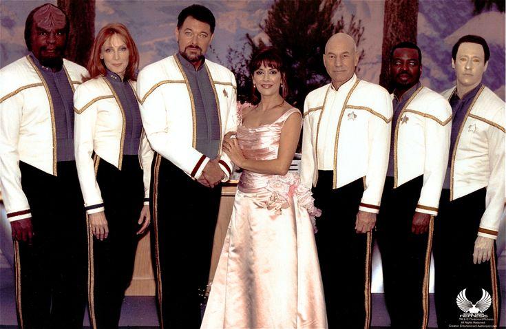 Deanna Troi and William Riker's wedding (Star Trek).