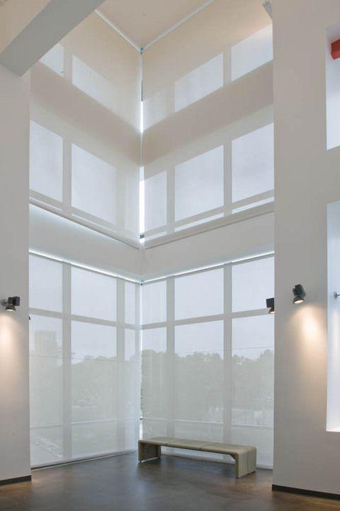 Best 25 roller shades ideas on pinterest window roller for Hunter douglas motorized shades