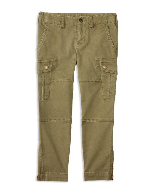 Ralph Lauren Childrenswear Girls' Stretch Cotton Twill Cargo Pants - Sizes 2-6X