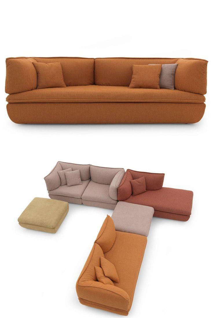 MIMIC Sectional Fabric #sofa By DE PADOVA | #design Monica Förster