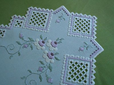 Beautiful Hardanger Table Runner with Flowers on eBay!