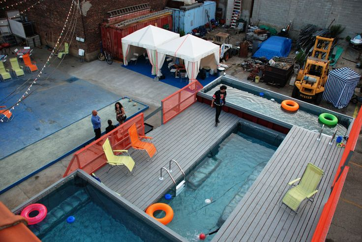 Dumpster to swimming pool