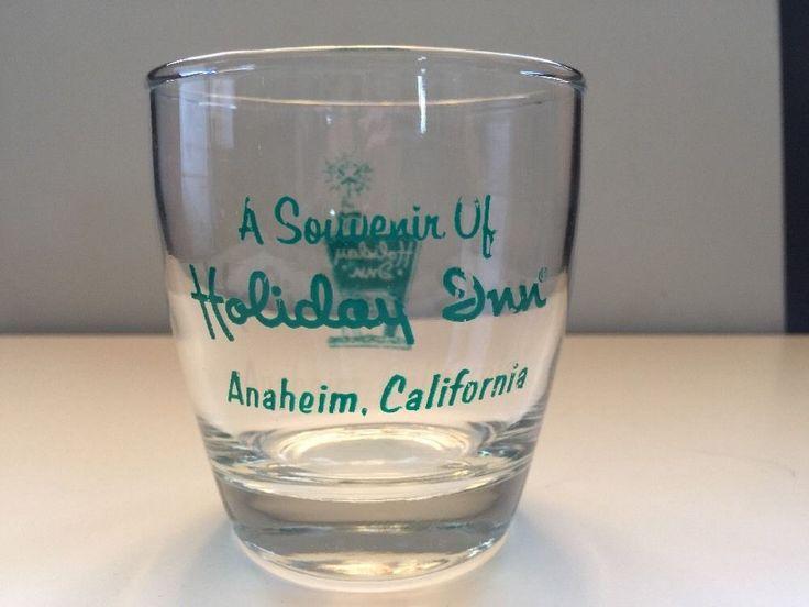 "Holiday Inn Hotel Anaheim California Souvenir CUP Drinking Glass 3"" Tall #UNKNOWN"