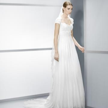 Deksel Kort Erme Blonde Billige Bryllupskjoler