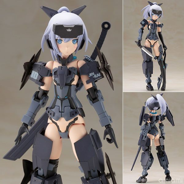 AmiAmi [Character & Hobby Shop] | Frame Arms Girl - Jinrai Indigo Ver. Plastic Model(Pre-order)